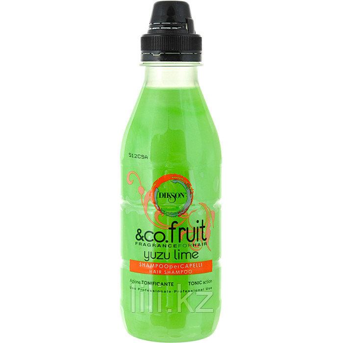 Тонизирующий и укрепляющий шампунь с экстрактом Лайма Dikson Co.Fruit&Co.Flower Yuzu Lime 500 мл.