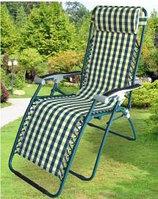 Кресло, шезлонг садовый (корич., зеленый)