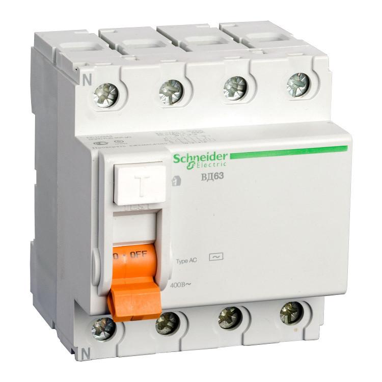 11465 Дифференциальный Выключатель нагрузки (УЗО) ВД63 4П 40A 300MA АС, Испания