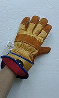 Спилковые утепленные перчатки ZY045