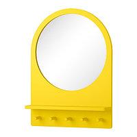 Зеркало с полкой и крючками САЛТРЁД желтый ИКЕА, IKEA   , фото 1