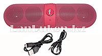 Колонка беспроводная стерео bluetooth-спикер для смартфонов и портативных пк (розовая)