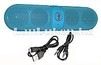 Колонка беспроводная стерео bluetooth-спикер для смартфонов и портативных пк (голубая)