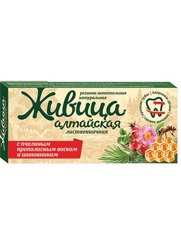 Живица Алтайская лиственничная с прополисным воском и шиповником