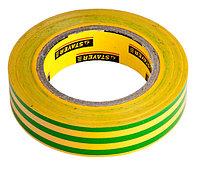 """Изолента STAYER """"PROFI"""" желто-зеленая, ПВХ, 15мм х 10м х 0,18мм"""