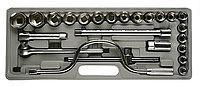 """Набор STAYER Автомобильный инструмент """"STANDARD"""" хромированное покрытие, 24 предмета"""