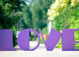 Буквы для свадебного декора
