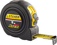 """Рулетка STAYER """"PROFI"""" """"AREX"""", двухкомпонентный противоударный корпус, упрочненное полотно, 10м/25мм"""