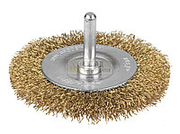 """Щетка STAYER """"PROFI"""" дисковая для дрели, витая латунированная стальная проволока, 0,3мм, 100мм"""