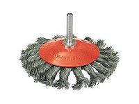 """Щетка ЗУБР """"ЭКСПЕРТ"""" коническая для дрели, плетеные пучки стальной закаленной проволоки 0,5мм, 100мм"""