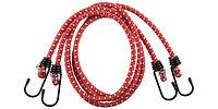 """Шнур ЗУБР """"МАСТЕР"""" резиновый крепежный со стальными крюками, 80 см, d 8 мм, 2 шт"""