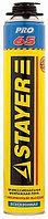 Пена STAYER PRO 65 профессиональная полиуретановая, для монтажного пистолета, всесезонная, 800мл
