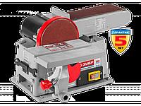 Станок ЗУБР шлифовальный, лента 100x914мм, диск 150мм, 2950об/мин, 500Вт