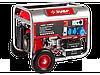 Генератор ЗУБР бензиновый, 4-х тактный, ручной и электрический пуск, колеса + рукоятка, 5500/5000Вт, 220/12В