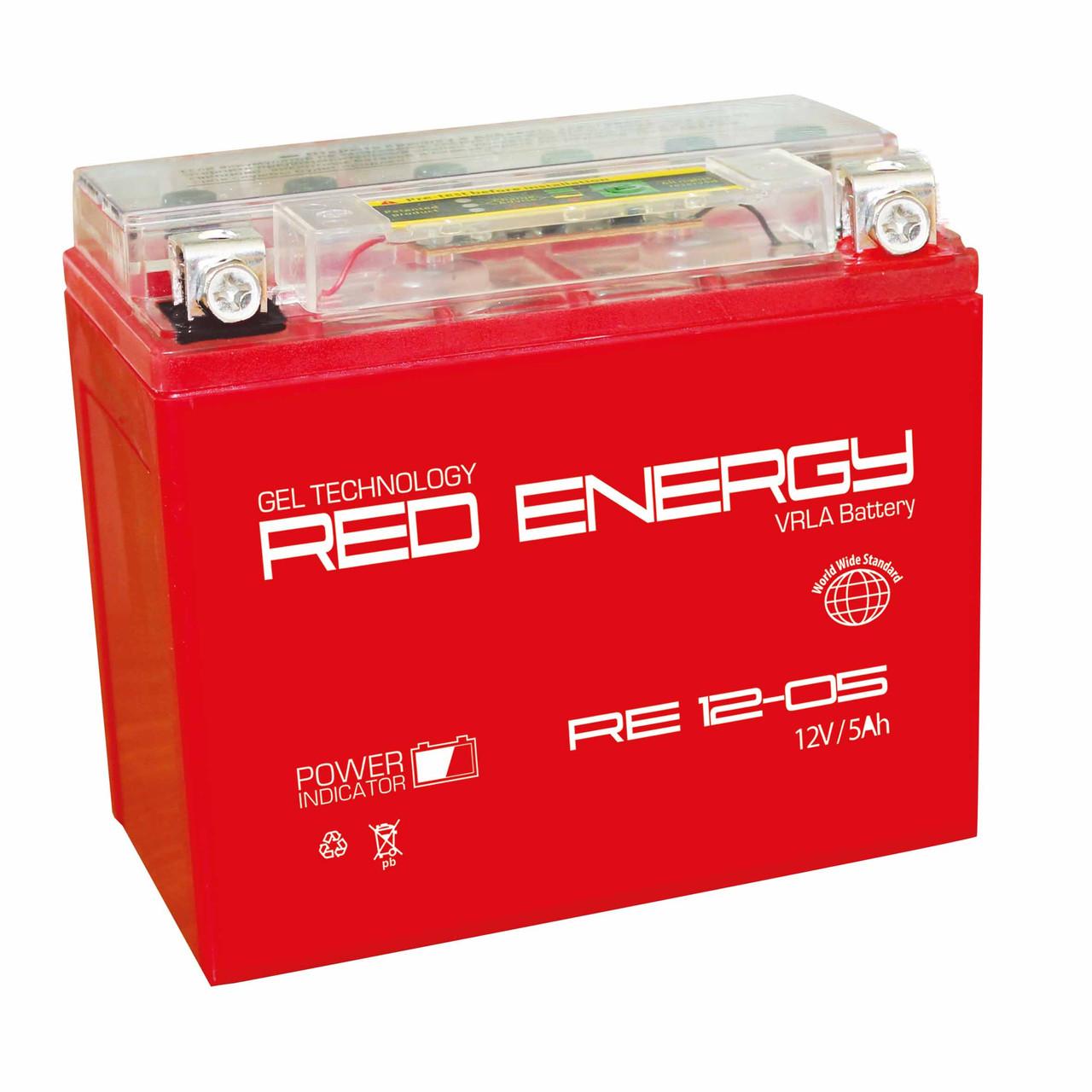 АККУМУЛЯТОР RED ENERGY RE 12-05 (114Х70Х106)