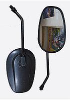 Зеркала 012 овал, черное, разборная стойка ф10мм