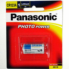 Батарейка Panasonic CR123A  3V, lithium power