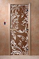 Дверь Стекло Бронза (Венеция) 1900х700 (коробка хвоя) 6мм