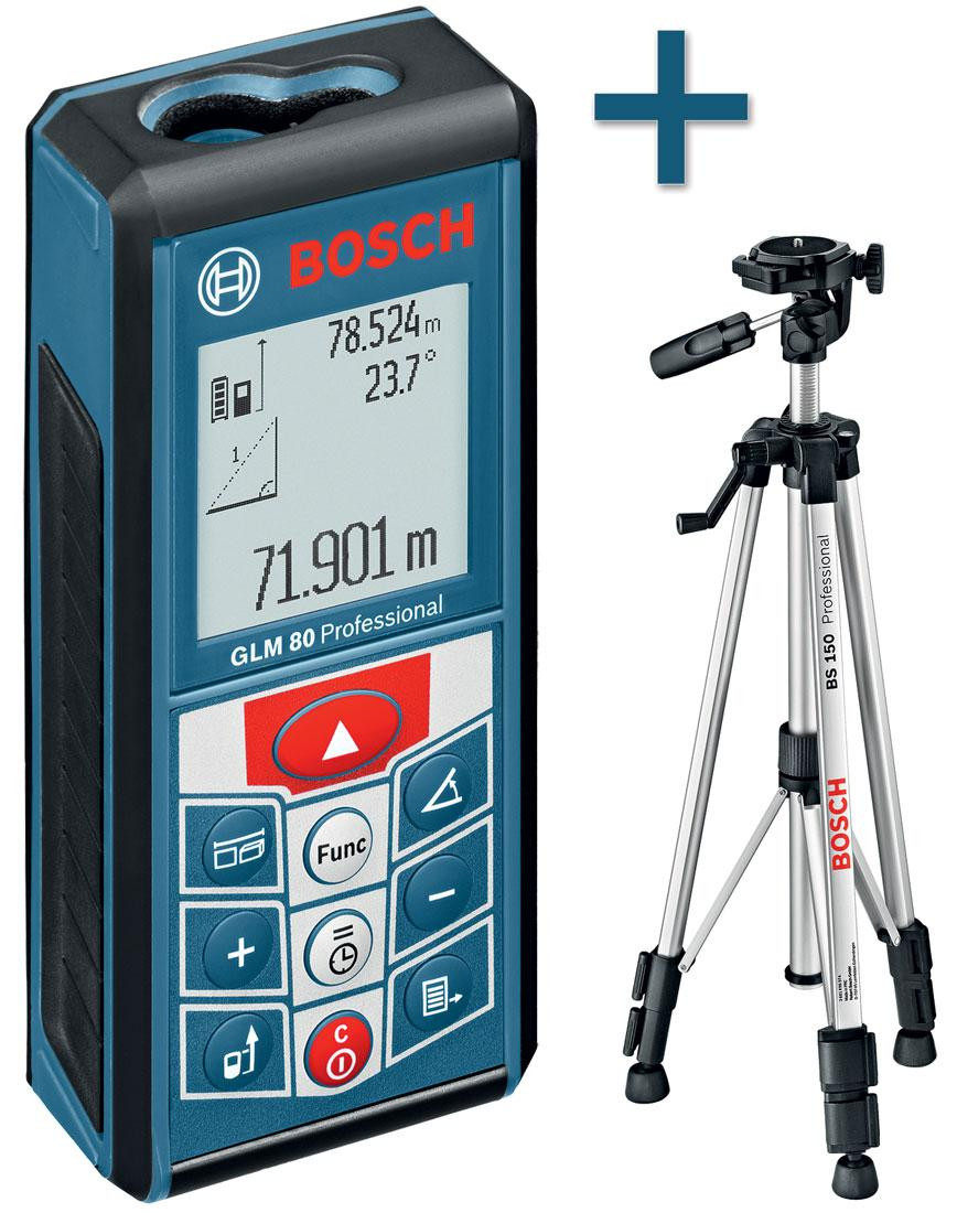 Лазерный дальномер BOSCH GLM 80 + BT 150