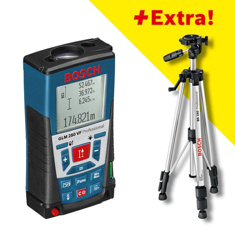 Лазерный дальномер BOSCH GLM 250FV+ BT 150 061599402J