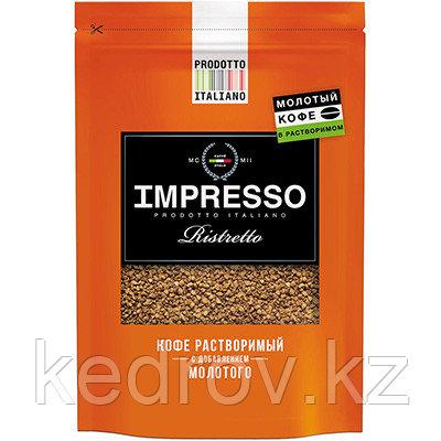 """""""IMPRESSO Ristretto"""" кофе сублимированный с добавлением молотого кофе, 100 гр дой-пак."""