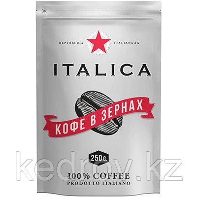 """""""ITALIKA """" кофе натуральный жареный в зернах, 250гр дой-пак."""