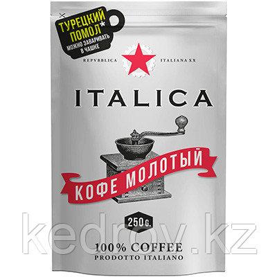 """""""ITALIKA """" кофе натуральный жареный молотый, 250 гр дой-пак."""