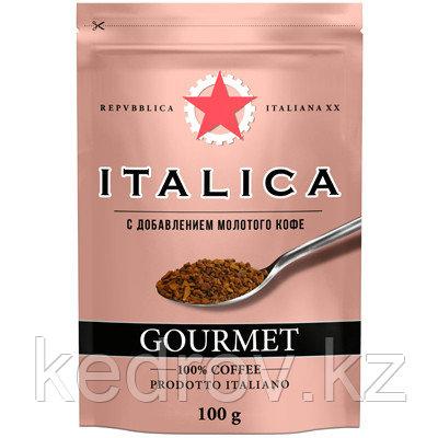 """""""ITALIKA Gourmet"""" кофе сублимированный с добавлением молотого кофе, 100 гр дой-пак."""