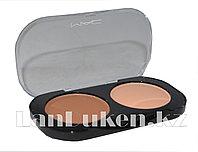 Матовые тени для глаз MAC 2 COLOR GROOMING POWDER (коричневый и розовый ) 4 тон