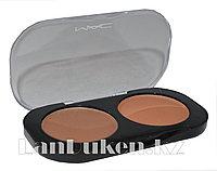 Матовые тени для глаз MAC 2 COLOR GROOMING POWDER ( коричневый и песочный) 3 тон