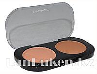 Матовые тени для глаз MAC 2 COLOR GROOMING POWDER (персиковый и песочный) 2 тон