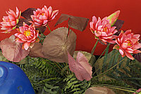 Искусственные растения Water Lily 5LVS 3Flors 1Bud, фото 1