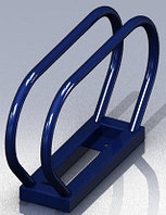 Велопарковка одиночная синяя