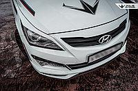 Реснички на фары Hyundai Accent (Solaris) 2014+ длинные