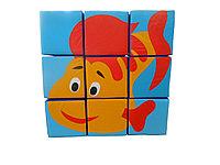 """Игровой Набор """"Кубики - Сложи Аппликацию"""" 9 шт. 90*90*30 см., фото 1"""
