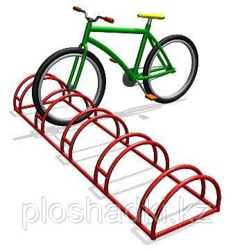 Велопарковка красная низкая