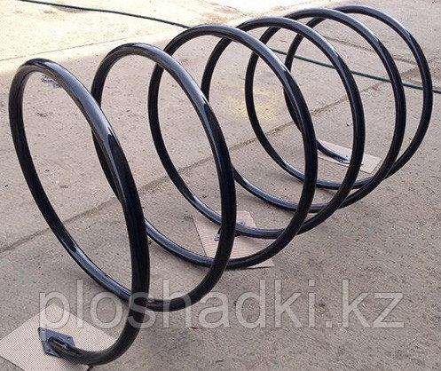 Велопарковка пружина, черная металлическая