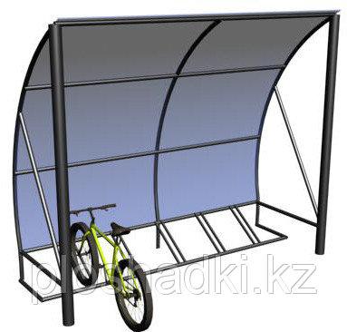 Велопарковка с навесом металлическая