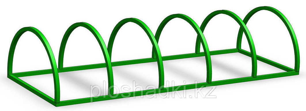 Велопарковка зеленая низкая