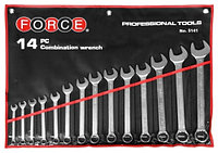 Набор рожково-накидных ключей Force 5141C (14пр.)