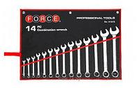 Набор рожково-накидных дюймовых ключей Force 5141SC (14пр.)