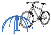 Велопарковка компактная, синяя