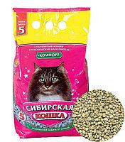 Наполнитель кошачьих туалетов Сибирская Кошка  Комфорт впитывающий