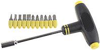 Набор STAYER Отвертка с Т-образной ручкой с насадками, 21 предмет