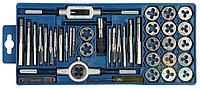 """Набор ЗУБР """"МАСТЕР"""" с металлореж. инструментом, метчики однопроходные и плашки М3-М12, оснастка - в пласт."""
