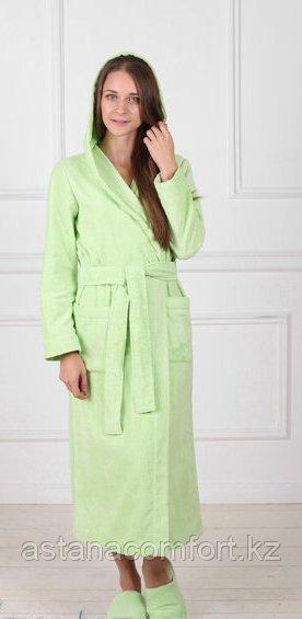 Женский махровый халат с капюшоном. Россия