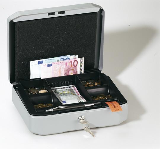 Ящик для денег, 100x283x225мм, серебристый металлик Durable