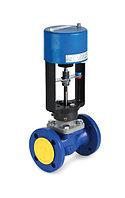 Седельные двухходовые регулирующие клапана с электроприводами AUMA и REGADA.