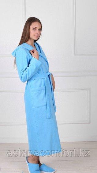 Халат женский махровый банный с капюшоном. Россия.