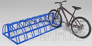 Велопарковка металлическая синяя